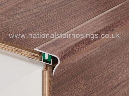 Rounded Nose Adjustable Stair Nosing For 7 12mm Height Laminate