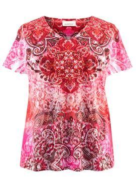 34 Paisley Batick Print Burnout Tee | Plus Size Knit Tops & Tees | Avenue