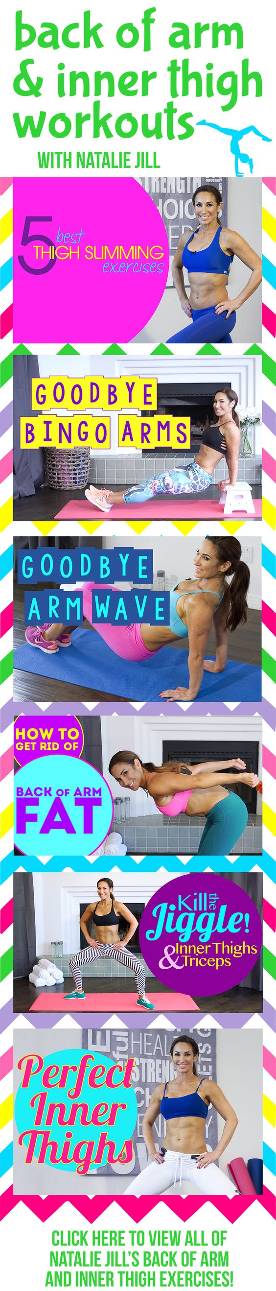 Back of Arm and Inner Thigh Workouts! Click below for the FULL video.