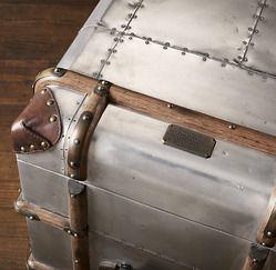 Restoration Hardware(レストレーションハードウェア)シェルフ「Richard's Trunk Narrow Single Shelving」Polished Aluminum
