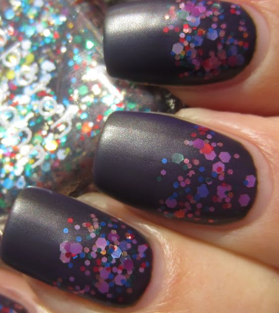 Happy Birthday by Deborah Lippmann tinted purple then matted. Really cool looking.