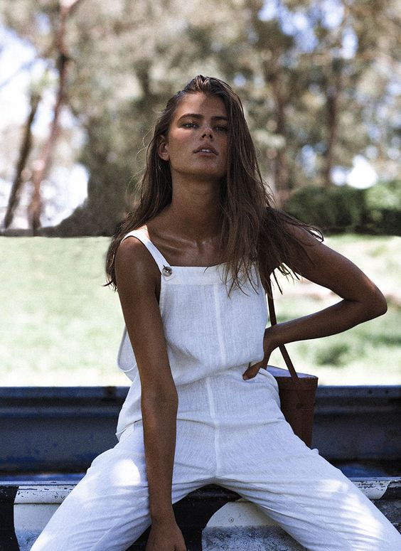 white linen jumpsuit gingerly witty