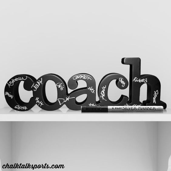 Our newest decorative SportWORDS ready for team to autograph makes a perfect gift for your lacrosse coach! Only from ChalkTalkSPORTS.com