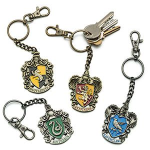 Display some school pride alongside your keys with the crest of your house at Hogwarts School of Witchcraft and Wizardry. Not recommended for use with flying keys, which may carry the whole keychain away.
