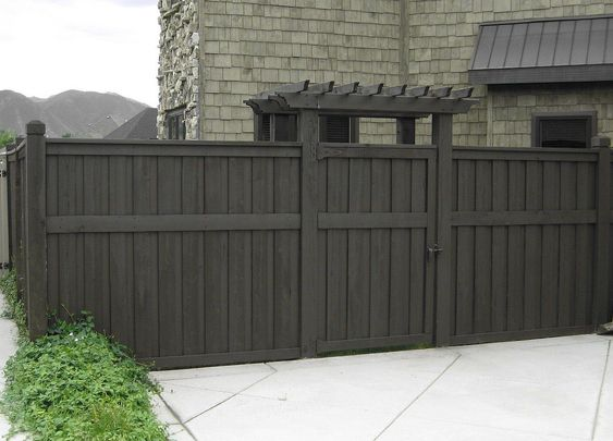 want to stain our cedar fence this color.  Love it.