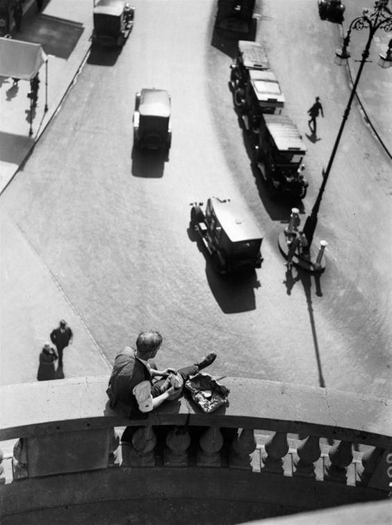 Lunch break on the spire of all souls, langham place, london, september 1928