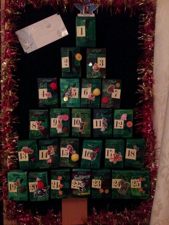 Cereal box advent calendar