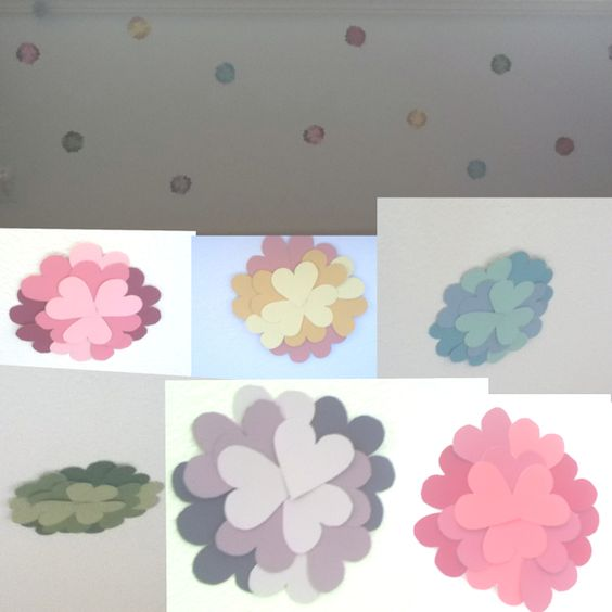 These are my paint swatch flowers! I put them below my window on the wall and they pop with color!