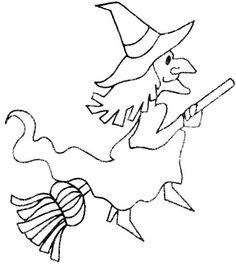 witch drawing template - Google Search