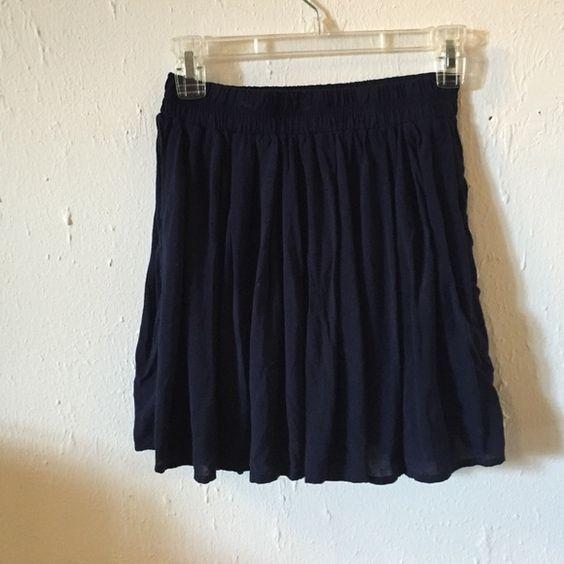 Brandy Melville skirt Navy blue, worn once Brandy Melville Skirts