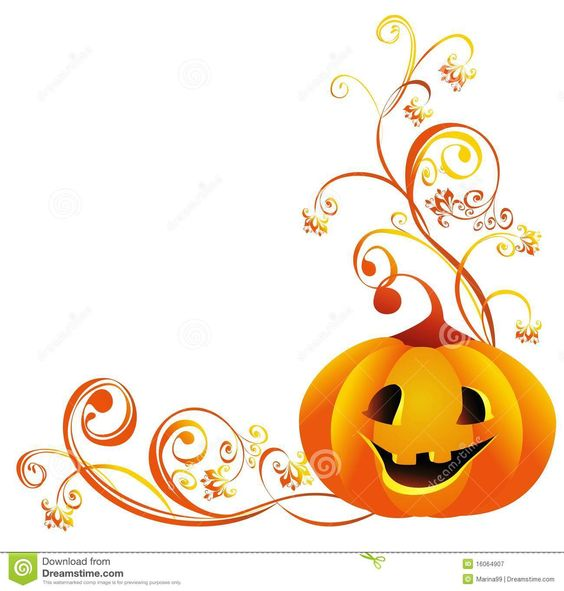 halloween vector border