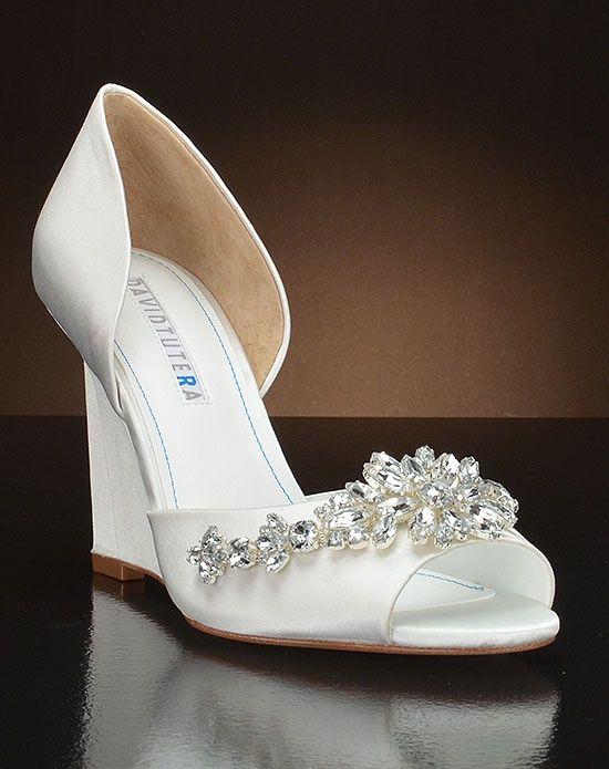 David Tutera Wedge Wedding Shoes