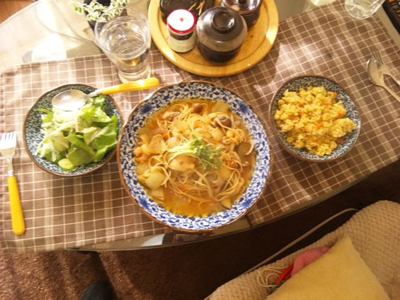 2013/01/20 Vongole Bianco(Japanese style). アサリパスタ(和風)