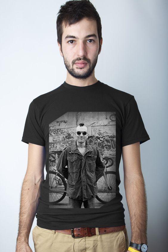 Bicycle tshirt, Bike tee, De Niro, Taxi Driver - via CWGClothing on Etsy