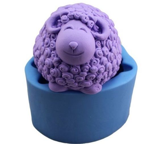 Silicone soap and candle mold, cute little ram