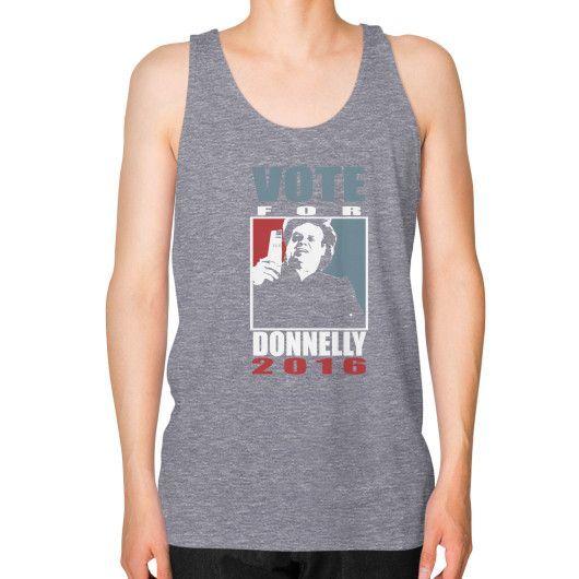 Donnelly 2016 Unisex Fine Jersey Tank (on man)