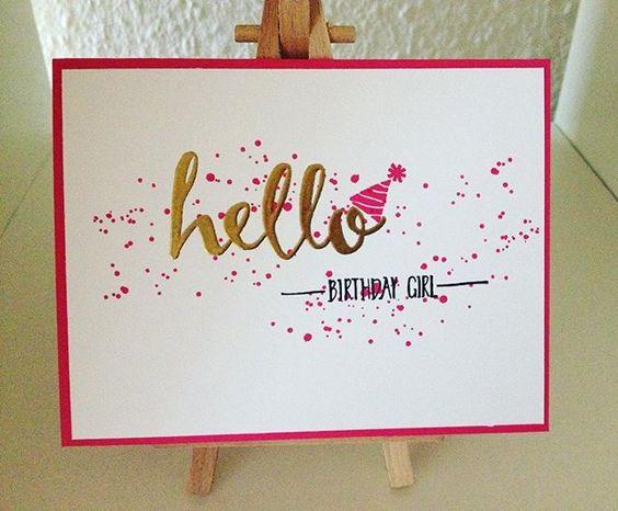 Und das wird die Geburtstagskarte zum 7. sein   #stampinup #stamping #embossing #papercraft #card #diy #baby #hello #happybirthday