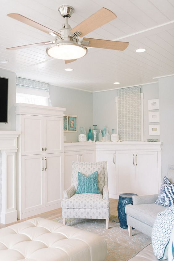 Inspiring Interior Paint Color Ideas - (Silver Strand by Sherwin Williams)