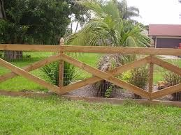 This is similar to one we've already seen but entirely unpainted. It just goes to show your fence can look great whether it's colorful or not.
