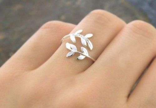 Adjustable Silver Ring Leaves Silver Leaf Ring Pretty Jewellery Cute Jewelry