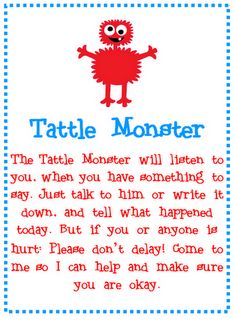 Classroom management ideas--love these ideas about tattling.