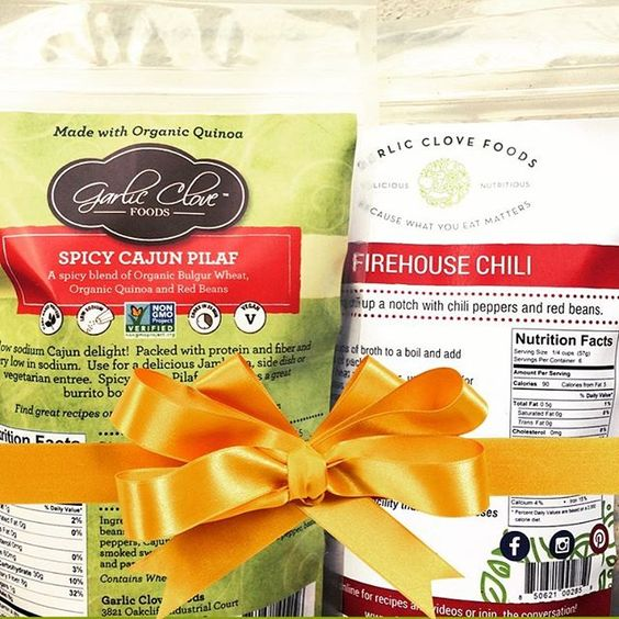 It's 12 Days of Garlic Clove Foods Gift Ideas! Day 6: For the Spice Lover.  Got a spice lover in your life who's not exactly handy in the kitchen? Grab one of our Spicy Cajun Pilafs and a Firehouse Chili for not one, but two easy weeknight one pot meals...with a kick! Wrap it all up with a bow and their favorite hot sauce for a spice lover's foodie delight!