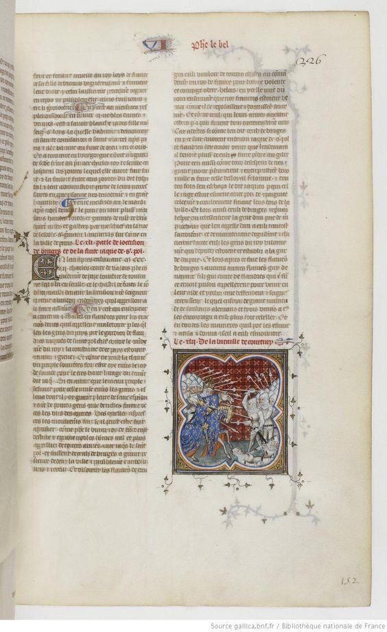 Grandes Chroniques de France Fol 326r, 1375-1380, Henri du Trévou & Raoulet d'Orléans