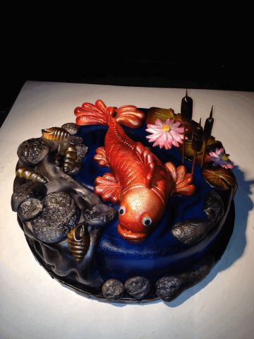 Fish Pond Cake