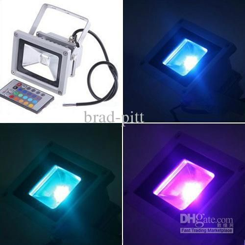 Wholesale 10W AC85-265V Outdoor Color Change Flood Light Advertising Light, Free shipping, $26.16-30.99/Piece | DHgate