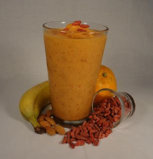 Jimmy Anderson's Casual Gourmet: Smoothie & Juice Menu - the Goji Stress Recovery smoothie.  Delicious!
