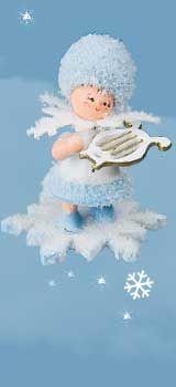 Schneeflöckchen mit kleiner Harfe 43064
