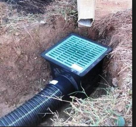 Raingutter drainage solution underground view for Outdoor ground drains