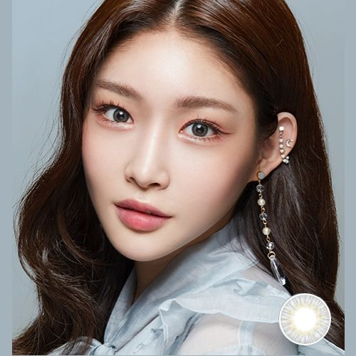 Lens Town Lighly Pastel Gray 1day 20p Contact Lenses Silicone Hydrogel Soft Cosmetic Idol Lens Pitchy Wedding Day Makeup Asian Eye Makeup Sweet Makeup