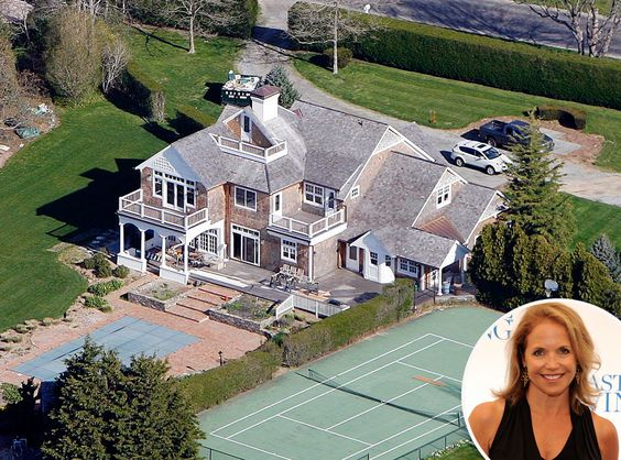 Celebrities homes katie couric and katie o 39 malley on for Celebrity homes in the hamptons