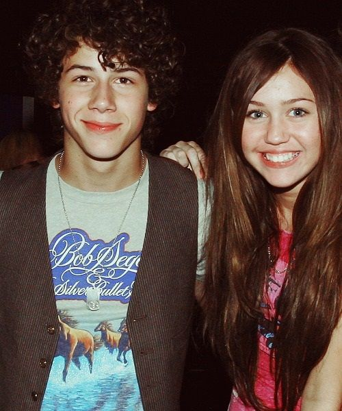Nick Jonas & Miley Cyrus <---- I honestly didn't even recognize her at first.
