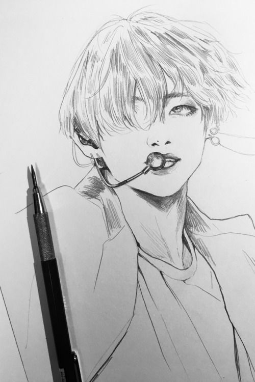 How To Draw Taehyung Easy Google Search Easy Drawings Bts Drawings Art Drawings Sketches Simple