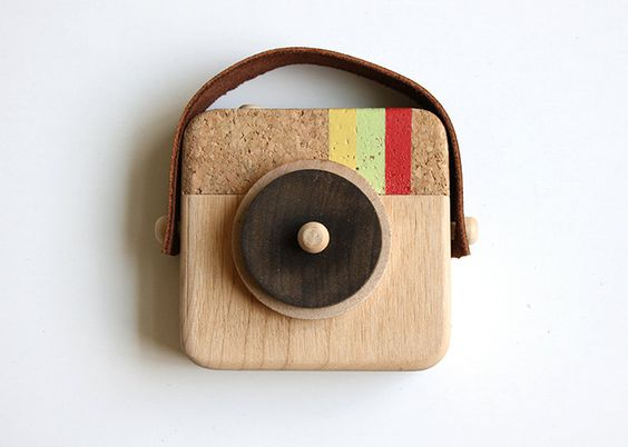 okay so this is CUTE! Anagram - Wooden Camera Inspired by Instagram by twigcreative via Etsy.