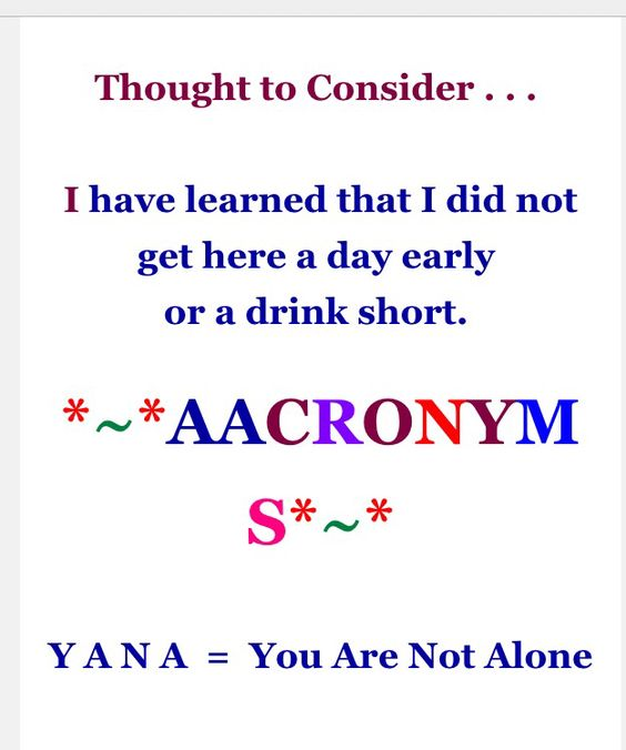 thought to consider & aacronyms 9-11-16