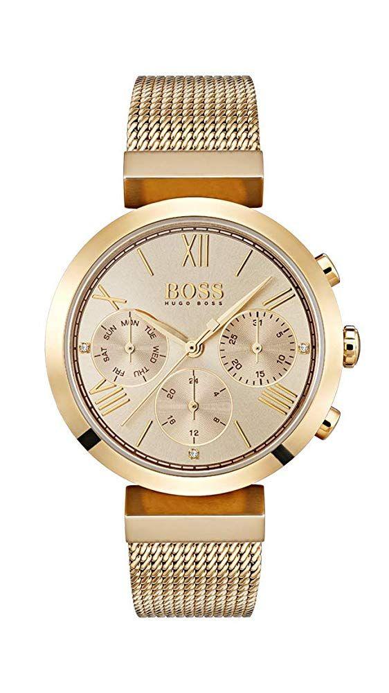 Hugo Boss Damen Analog Quarz Uhr Mit Edelstahl Armband 1502425 329 00 5 0 Von 5 Sternen Damen Uhren 2019 Edelstahl Armband Boss Damen Edelstahl