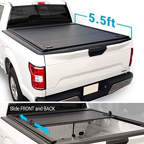 Syneticusa Aluminum Roll Up Retractable Low Profile Hard Tonneau