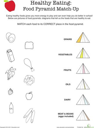 Printables 2nd Grade Health Worksheets nutrition the food pyramid 1st and 2nd grade health lesson worksheets healthy eating match up