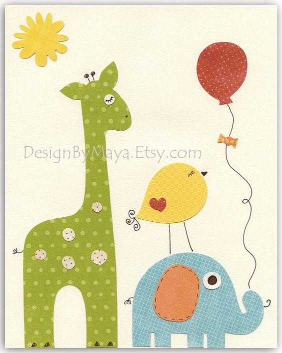 Impresiones de arte infantil decoración habitación por DesignByMaya