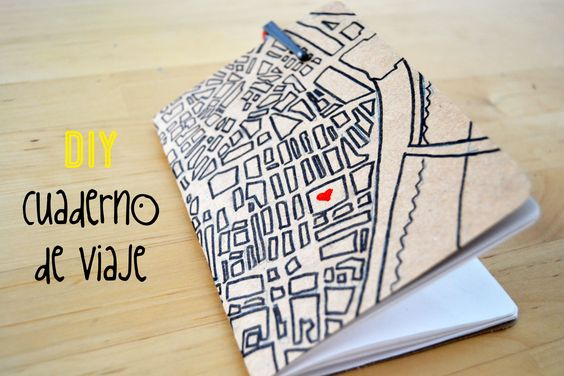 Video tutorial para hacer un cuaderno de viaje para el verano, DIY video tutorial to make a summer notebook.
