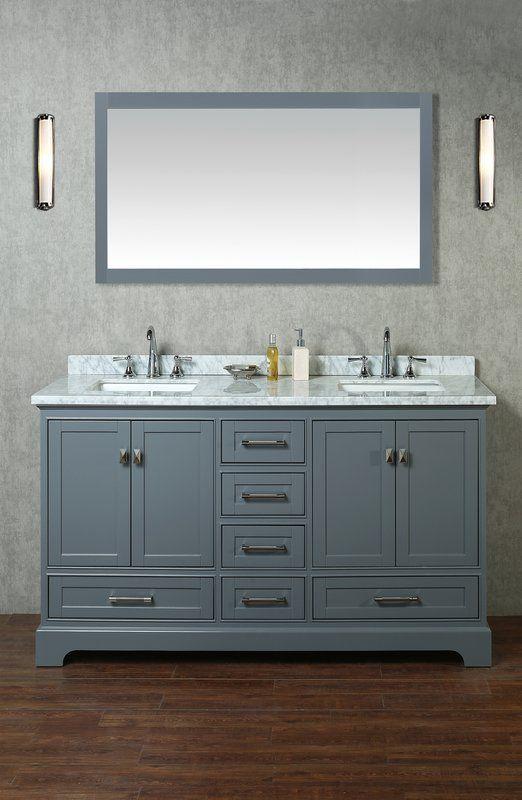 Stian 60 Double Sink Bathroom Vanity Set With Mirror Bathroom Vanity Double Sink Bathroom Vanity Double Sink Bathroom