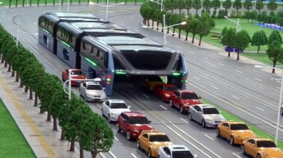 Video: Would You Catch The Elevated Bus Of The Future That Hovers ABOVE Cars?