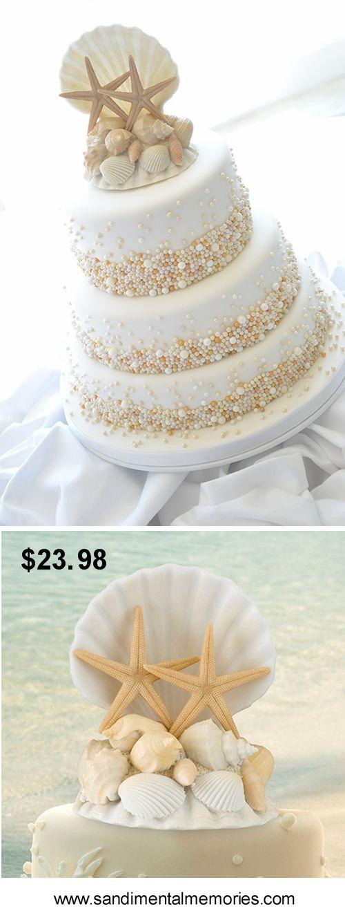Click here for Seashell Wedding Cake Topper. $23.98