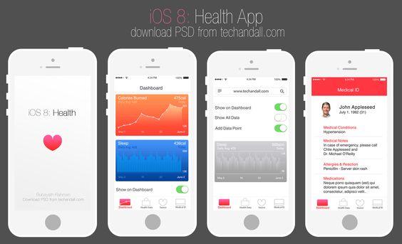 Apple iOS 8: Health App Mockup