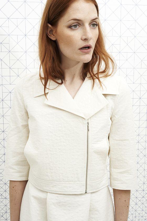 Veste Perfecto ALFRED blanc white jacket vanina escoubet