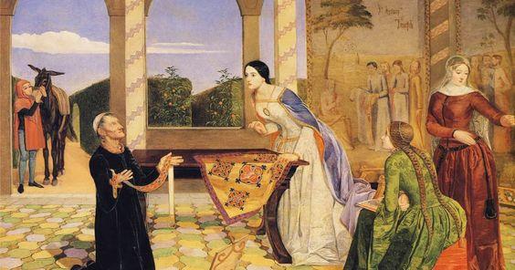 L'art magique: Charles Allston Collins : L'alarme de Bérangère pour la sécurité de son époux Richard Coeur de Lion