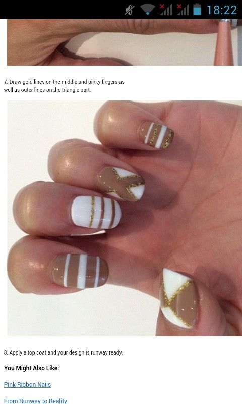 Chanel design gold&white